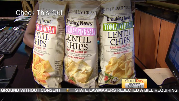 Good Day Sacramento Loves Our Lentil Chips